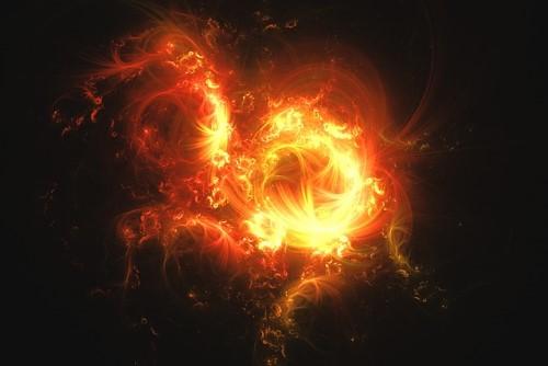 炎の燃え始め