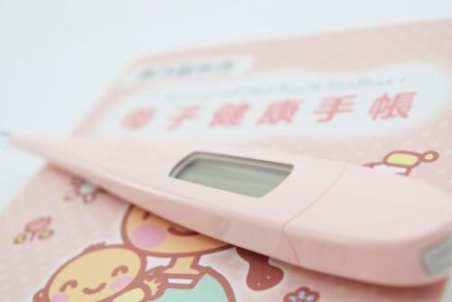 母子手帳と体温計